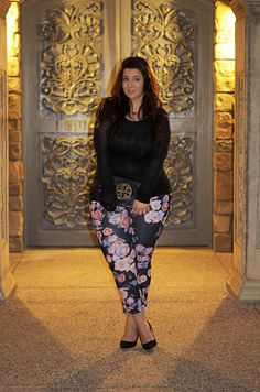 b019bdaa33b crystal coons plus size happy hour ootd cropped pants floral pants tory  burch