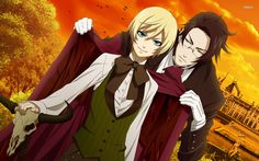 black butler Alois Trancy and his butler Claude