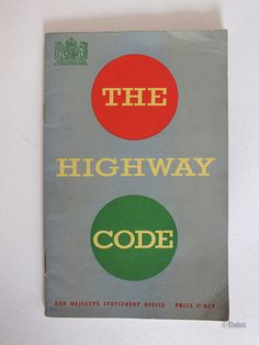 Vintage 1954 edition of The Highway Code published by Her Majesty's Stationery Office. 32 page paperback booklet with colour and b&w illustrations of the signals and traffic signs of the time  Would make a fine addition to any collection, or authentic period prop for theatre, displays etc.