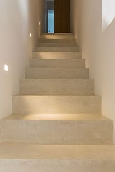Mortex is the ideal covering material for your stairs and floors. It is hard-wearing and comes in your own style! Staircase Lighting Ideas, Staircase Design, Basement Stairs, House Stairs, Stairs To Heaven, Hallway Colours, Victoria House, Beton Design, Home Decor