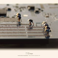 Photographer and art director Tatsuya Tanaka has a fascination with all things tiny and has an uncanny ability to repurpose everyday objects as set pieces or tools for the inhabitants of his miniature world. For his project Miniature Calendar, Tanaka has been stretching his imagination to its limi