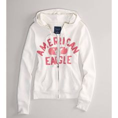 Ae Signature Graphic Hoodie ($30) ❤ liked on Polyvore