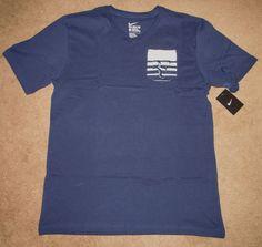Nike Court RF Pocket Mens Tennis Shirt Midnight Navy 739477 410 FEDERER #Nike #ShirtsTops