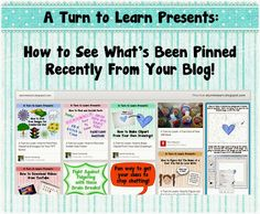 A Turn to Learn: How to See What's Been Pinned Recently From Your Blog!