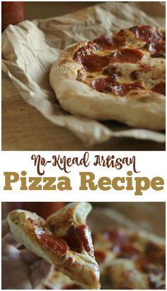 no knead artisan pizza crust recipe