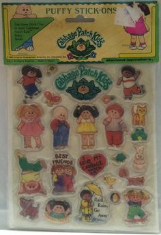 (TAS032671) - Cabbage Patch Kids Puffy Stick-Ons Stickers