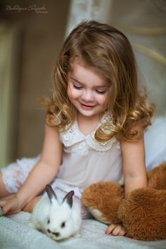 girl and her bunny...