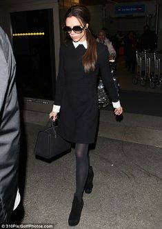 Victoria by Victoria Beckham dress - I would totally wear this outfit. It's a Wednesday Adams dress! :)
