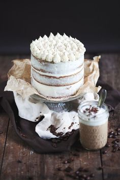 espresso and white chocolate cake.