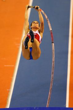 So when do I become Yelena Isinbayeva (pretty sure it's not within my first 4 days but that'd be cool, too) Sports Models, Sports Photos, Sports Women, Tokyo Olympics, Summer Olympics, Female Pole Vaulter, Darya Klishina, Gymnastics Flexibility, Female Surfers