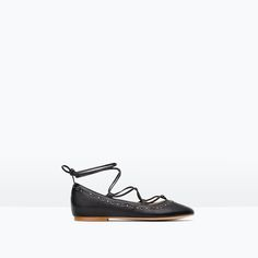 LEATHER BALLERINAS WITH BOW - Shoes - Girl | 4 - 14 years - KIDS | ZARA United States