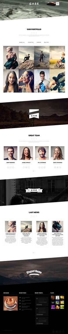 Case - Parallax Portfolio Theme - Flat Design