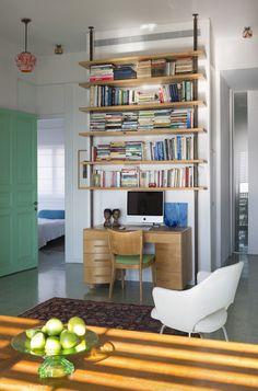 Vintage work area designed by Tema Studio.