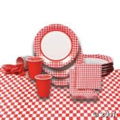 Red Gingham paper goods would make a fabulous addition to the Teddy Bear Picnic theme!  #FRG