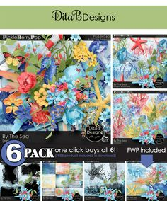 DitaB Designs:   BY THE SEA 6-Pack for just $6This is a value of...