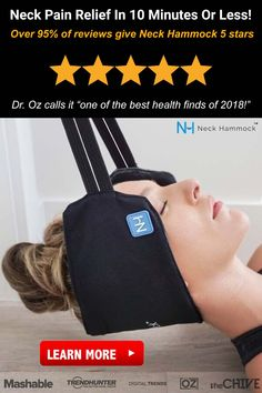 "Oz calls it ""one of the best health finds of Relieve your neck pain in 10 minutes or less. Learn more today. Health Zone, Health Fitness, Neck Pain Relief, Muscle Memory, Body Therapy, Tension Headache, Digital Trends, Natural Health Remedies, Health And Beauty Tips"