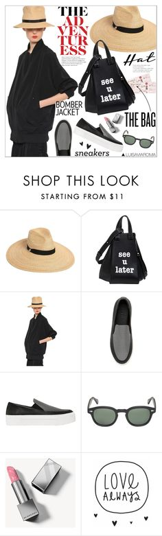 """""""Gifts for the Jet Setter"""" by luisaviaroma ❤ liked on Polyvore featuring Dsquared2, Loewe, Y's by Yohji Yamamoto, DKNY, Moscot, Burberry, giftguide, travel, luisaviaroma and giftsforher"""