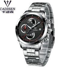 Cadisen Hot Mens Watches Top Brand Luxury Sport Fashion Casual Mens Watch Quartz Stainless Steel Waterproof Man Wristwatch