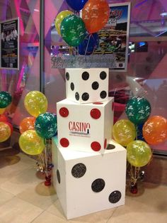 Casino Themed Event Dice Display Dice, Gift Wrapping, Events, Display, Gifts, Gift Wrapping Paper, Floor Space, Presents, Billboard