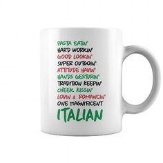 Awesome Tee Italian Mug Shirt; Tee