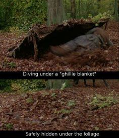 Diving under a ghillie blanket! - /tnoisaw/camping-survival/ BACK Survival Shelter, Wilderness Survival, Camping Survival, Outdoor Survival, Survival Prepping, Emergency Preparedness, Survival Gear, Survival Skills, Apocalypse Survival