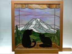 Cats and Mt Rainier. Free PDF pattern at website.