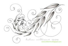 from a little lime ~ Helen's gum leaves tangle with a natural, curvy look and pretty scrolls