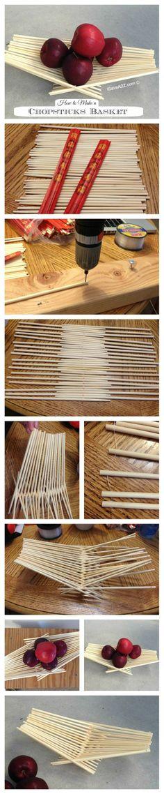 How to Make a Chopsticks Basket!  #easycrafts