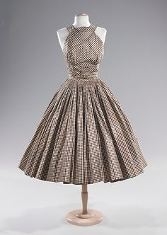 Cocktail dress, Norman Norell, ca. 1955, Brooklyn Museum Costume Collection at The Metropolitan Museum of Art