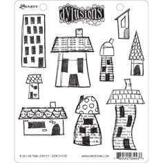 Dyan Reaveley's Dylusions Cling Stamp Collections are quality rubber stamp sets, and this one, Right Up Your Street, contains nine of Dyan Reaveley's signature wonky houses and buildings. They're mounted on cling foam for use with any acrylic block or stamp positioner. Great for cards, journals, or mixed media projects, they�...