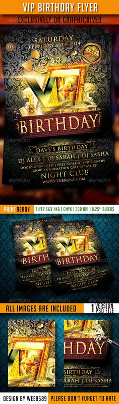 Birthday Flyer Template  Flyer Template Birthdays And Print