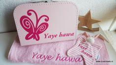 koffertje met naam: vlinder