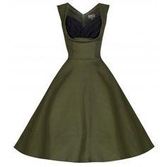 Ophelia Cypress Green Dress | Vintage Inspired Fashion - Ruby Shoo
