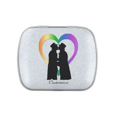 Personalized Two Grooms Rainbow Heart Jelly Belly Favor Tin Rainbow Heart, Rainbow Pride, Jelly Belly, Save The Date Magnets, Wedding Anniversary Gifts, Grooms, Wedding Engagement, Colorful Backgrounds, Party Favors