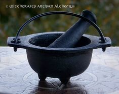 BLACK CAULDRON Cast Iron Mortar & Pestle - Crafting Herb Spice Incense Grinding Preparation Tool, Kitchen Witchery, Witchcraft on Etsy, $20.95