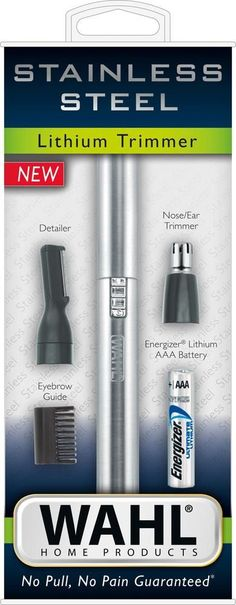 Remove body hair quickly with this two-in-one Wahl pen hair trimmer. Its rotary head provides effective cutting for the nose and ears, and its reciprocating head lets you precisely detail facial or bikini areas. Style your eyebrows easily with the reciprocating head of this stainless steel Wahl pen hair trimmer. #ChinHairRemoval Underarm Hair Removal, Hair Removal Cream, Laser Hair Removal, Baking Soda Shampoo, Hair Removal Methods, Unwanted Hair, Ingrown Hair, Rotary, Eyebrows