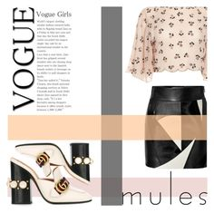 Untitled #42 by blackdust on Polyvore featuring polyvore fashion style FAUSTO PUGLISI Gucci clothing mules