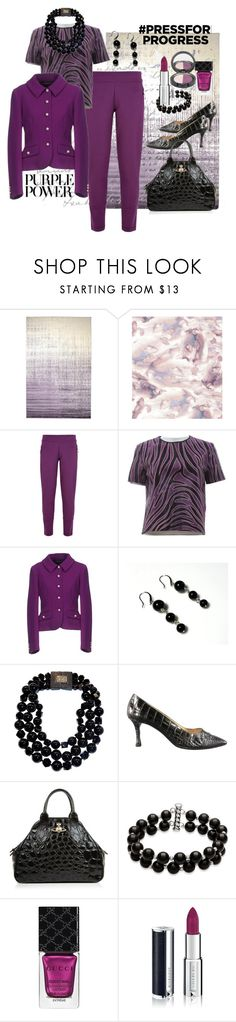 """""""Purple Power"""" by susan-993 ❤ liked on Polyvore featuring Kathy Davis, adidas, Mother of Pearl, Boutique Moschino, Patricia von Musulin, Manolo Blahnik, Vivienne Westwood, Belk & Co., Gucci and Givenchy"""