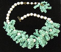 Fabulous Fifties Turquoise Chunky Necklace Mid by EyeImpact