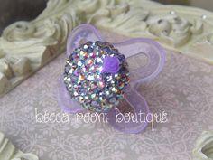 MAM Baby Bling Purple Rhinestone Baby Pacifier Dummy by BeccaRooni