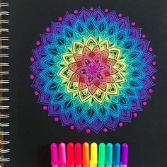 Brilliant Draw A Glass Ideas. Exquisite Draw A Glass Ideas. Colorful Art, Black Paper, Drawings, Doodle Art, Mandala, Black Paper Drawing, Mandala Design Art, 3d Drawings, Sharpie Art