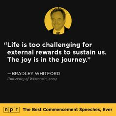 Bradley Whitford, 2004. From NPR's The Best Commencement Speeches, Ever.