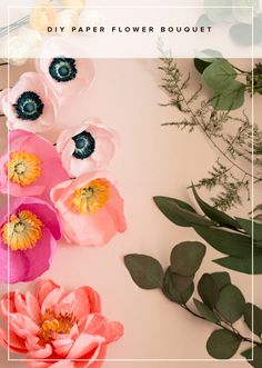 Today we have such an exciting and creative DIY project from paper flower maven Rachael over at Appetite Paper. She's stopping by to show us how to create this vibrant and artful paper flower bouquet filled with ranunculus, anemonies, poppies, and a darling peony. These paper flowers are made using crepe paper, acrylic paint, and to …