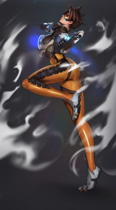 Tracer by sinceillust on DeviantArt Fantasy Characters, Female Characters, Tracer Fanart, Overwatch Females, Ahri Lol, Rainbow Six Siege Art, Overwatch Wallpapers, Overwatch Fan Art, Fantasy Character Design