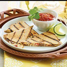 Goat Cheese & Mushroom Quesadillas.     http://www.wegmans.com/webapp/wcs/stores/servlet//ProductDisplay?langId=-1=10052=10002=RECIPE_16632