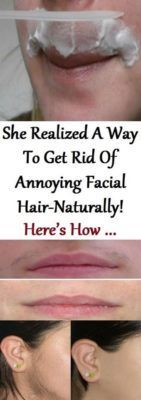 SHE REALIZED A WAY TO GET RID OF ANNOYING FACIAL HAIR-NATURALLY! HERE'S HOW .. (VIDEO)