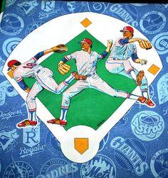 Vintage 1991 Bibb Co MLB Team Logo Baseball Twin Flat Sheet Mets Yankees Sox Co #BibbCompany