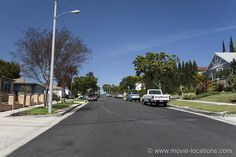 Rebel Without A Cause Movie Location South Citrus Avenue, Ladera Heights, Los Angeles. The school kids who give Jim such a hard time roll up on South Citrus Avenue and finally head off north to 'Dawson High'. Rebel Without A Cause, School Kids, Filming Locations, Watch, Movies, Clock, Films, Bracelet Watch, Clocks