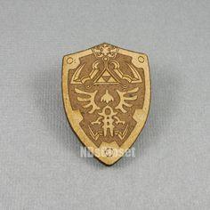 Zelda Hyrule Shield Pin/Brooch by NBsCloset on Etsy, $8.00