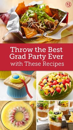 Don't panic when grad party season hits! Make your graduate's party the place to be with these outstanding recipes that are guaranteed to draw a crowd. Graduation Party Foods, Graduation Celebration, Grad Parties, College Graduation, Graduation Ideas, Don't Panic, Party Planning, Crowd, Food And Drink